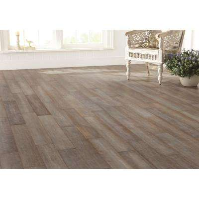 Hand Scraped Strand Woven Earl Grey 3/8 in. T x 5-1/8 in. W x 36 in. L Engineered Click Bamboo Flooring