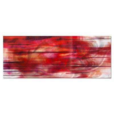 Brevium 19 in. x 48 in. Tropical Sunset Metal Wall Art