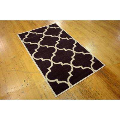 Trellis Austin Purple 3' 3 x 5' 3 Area Rug