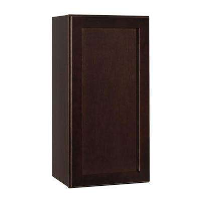 Assembled 15x30x12 in. Shaker Wall Cabinet in Java