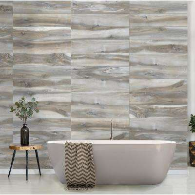 Outer Banks Blue 8 in. x 36 in. Matte Porcelain Floor and Wall Tile (122.4 sq. ft./Pack)