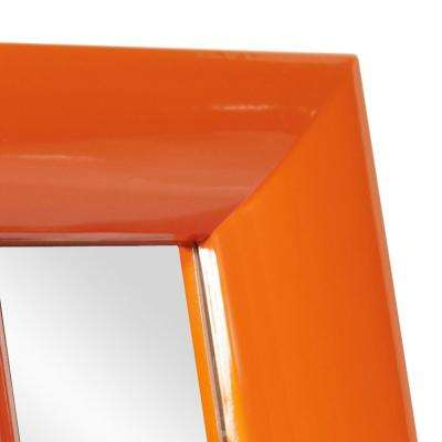 10 in. x 12 in. Candy Orange Table Mirror