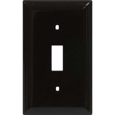 1 Toggle Switch Wall Plate - Brown