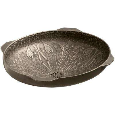 lilies lore vitreous china undermount bathroom sink in cast bronze with medium patina - Undermount Bathroom Sinks