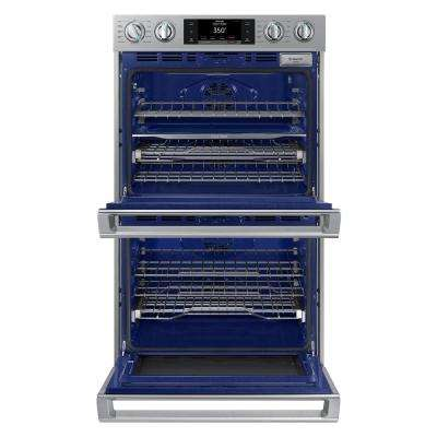 30 in. Double Electric Wall Oven with Steam Cook, Flex Duo and Dual Convection in Stainless Steel