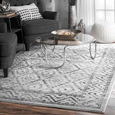 Vintage Trellis Lynell Gray 2 ft. 8 in. x 8 ft. Runner Rug