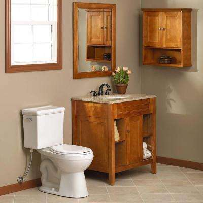 Exhibit 30 in. W Bath Vanity Cabinet Only in Rich Cinnamon