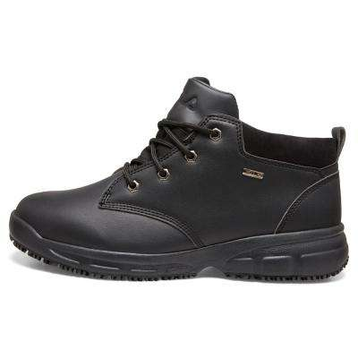 Memory Mike Mid Men Black Synthetic Soft Toe Work Shoe