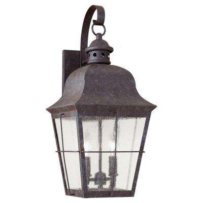 Chatham 2-Light Outdoor Oxidized Bronze Wall Mount Fixture