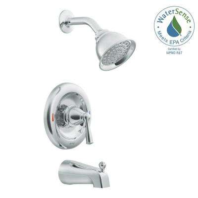 Banbury Single-Handle 1-Spray Tub and Shower Faucet with Valve in Chrome