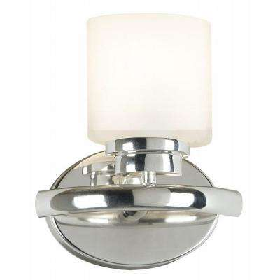 Bow 1-Light Polished Nickel Sconce