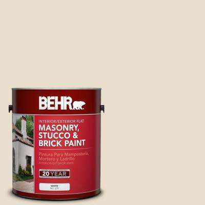 1 gal. #23 Antique White Flat Interior/Exterior Masonry, Stucco and Brick Paint