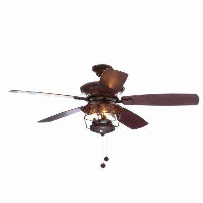 Brentford 52 in. Indoor/Outdoor Aged Walnut Finish Ceiling Fan