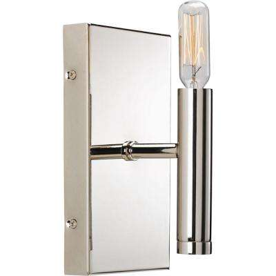 Draper Collection 1-Light Polished Nickel Bath Light