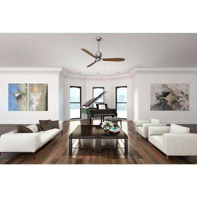 Tribeca 60 in. Indoor Brushed Nickel Ceiling Fan with 4-Speed Wall Mount Control