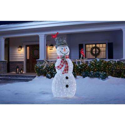 6 ft Acrylic Snowman with Red Birds