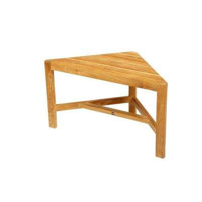31-1/2 in. W Fiji Corner Bathroom Shower Bench in Natural Teak
