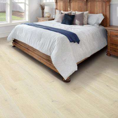 Elegant Hm Arctic Wht Oak 9/16 in. Thick x 7.44 in. Width x Varying Length Engineered Hardwood Flooring (22.32 sq. ft.)