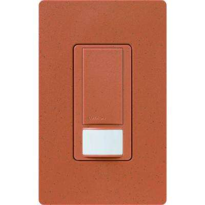 Maestro 6-Amp Single-Pole/Multi-Location/3-Way Dual-Voltage Switch with Vacancy Sensor - Terracotta