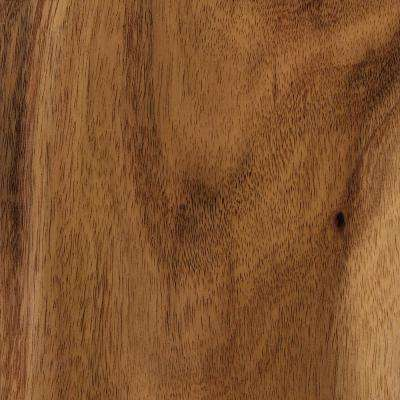 Matte Natural Acacia 3/8 in. Thick x 5 in. Wide x Varying Length Click Lock Hardwood Flooring (19.686 sq. ft. / case)