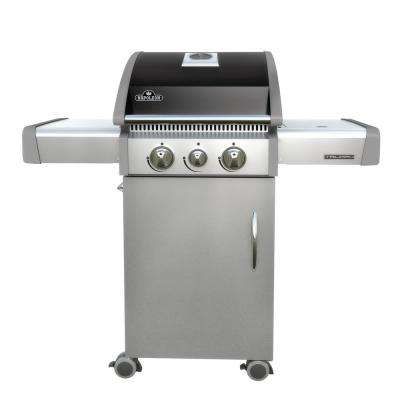 Triumph 325 3-Burner Propane Gas Grill in Black