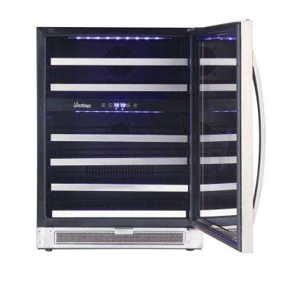 Connoisseur Series 46-Bottle Dual-Zone Wine Cooler in. Stainless