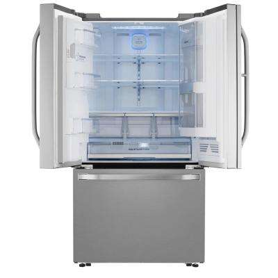 23.5 cu. ft. French Door Smart Refrigerator with InstaView Door-in-Door in Stainless Steel, Counter Depth