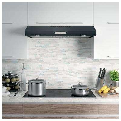 Profile 36 in. 390 CFM External Under the Cabinet Range Hood with LED Light in Black Slate, Fingerprint Resistant