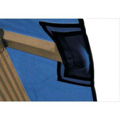 12 ft. x 12 ft. ACACIA Admiral Navy Gazebo Replacement Canopy
