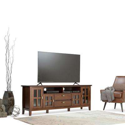Artisan Medium Auburn Brown Storage Entertainment Center