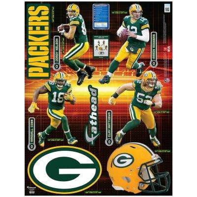 52 in. H x 39 in. W Green Bay Packers Power Pack Wall Mural