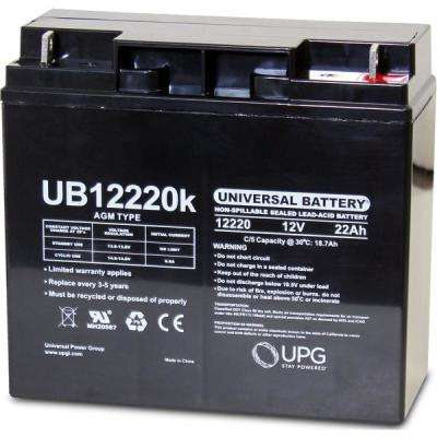 12V 22Ah T4 AGM Battery