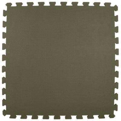 Premium Gray 24 in. x 24 in. x 5/8 in. Foam Interlocking Floor Mat (Case of 25)