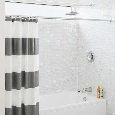 1-Spray 8 in. Single Wall Mount Fixed Rain Shower Head in Chrome
