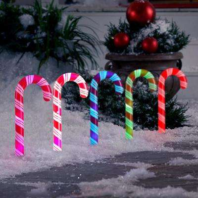 18.11 in. LightShow Candy Cane Pathway Stake (1 set of 5)