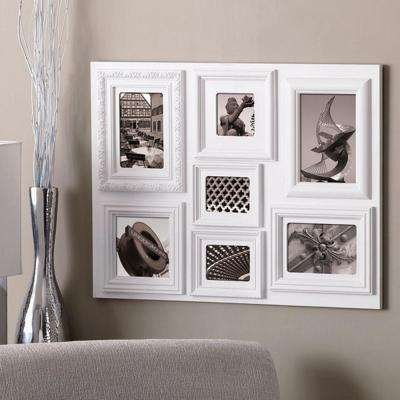 Fuse 7-Opening 1-3.5 x 3.5 in., 5 x 5 in. and 5 x 7 in. plus 2-4 x 3 in. and 4 x 6 in. White Collage Frame