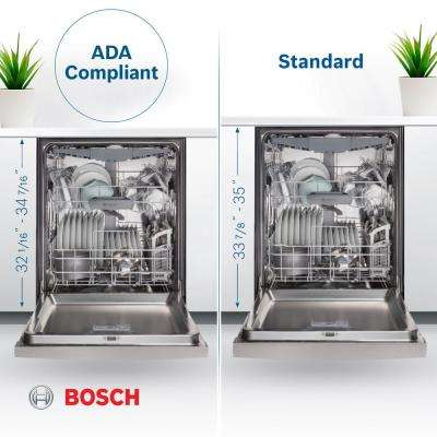 800 Series 24 in. ADA Front Control Dishwasher in Stainless Steel with Stainless Steel Tub and 3rd Rack, 44dBA