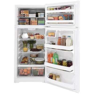 17.5 cu. ft. Top Freezer Refrigerator in White