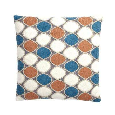 Ludlow Embroidered 20 in. x 20 in. Pillow Cover