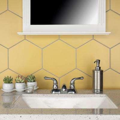 """Textile Basic Hex Dandelion 8-5/8""""x9-7/8"""" Porcelain F/W Tile"""
