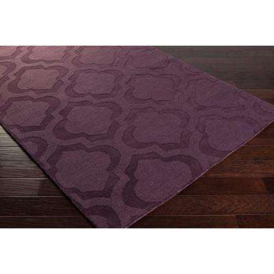 Central Park Kate Eggplant 8 ft. x 10 ft. Indoor Area Rug