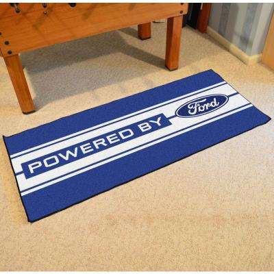 Ford - Ford Oval with Stripes Blue 3 ft. x 6 ft. Indoor Runner Rug