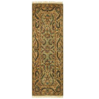 Chantilly Antique Green 2 ft. 3 in. x 10 ft. Runner