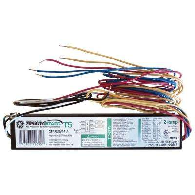 120 to 277-Volt High Efficiency Electronic UltraStart Ballast for 2 or 1-Lamp T5 Fixture (Case of 10)