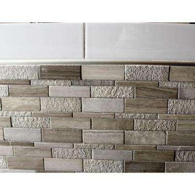 Satin Nickel Anodized 3/8 in. x 98-1/2 in. Aluminum R-Round Bullnose Tile Edging Trim