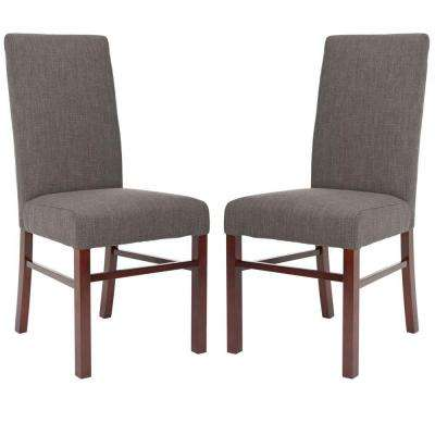 Classic Birchwood Chair in Charcoal Brown (Set of 2)
