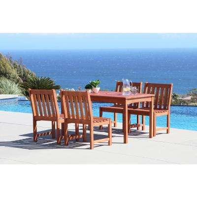 Malibu 5-Piece Rectangle Patio Dining Set