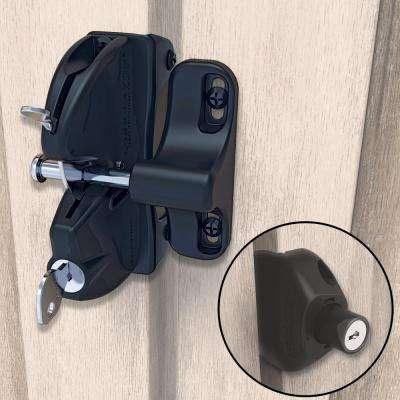 D&D Black Two-Sided Key-Lockable General Purpose Gate Latch