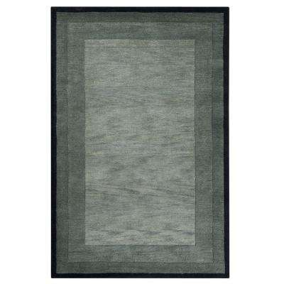 Karolus Gray and Black 5 ft. 3 in. x 8 ft. 3 in. Area Rug