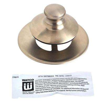 Universal NuFit Push Pull Bathtub Stopper, Non-Grid Strainer and Silicone in Brushed Nickel